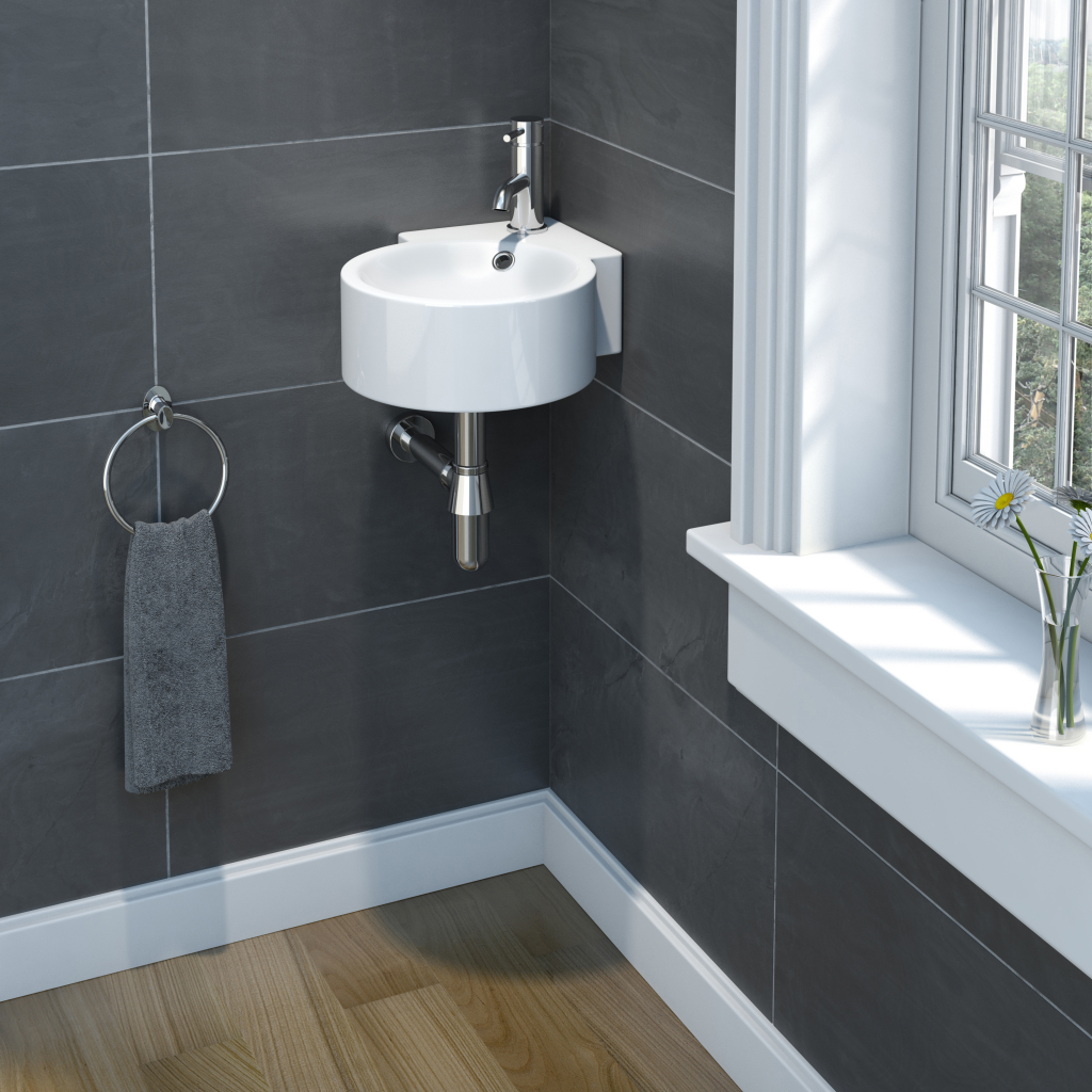 SP Cloakroom Collection Corner Basin 300mm - Stax Trade Centres