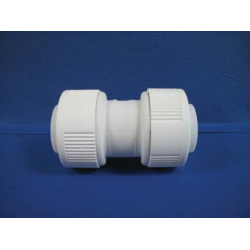 Straight Connector White 15mmwh