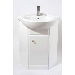 Ceramic Basin For Corner Gloss Vanity Unit
