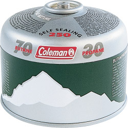 Coleman Butane/Propane Mix 250 Valved Cartridge