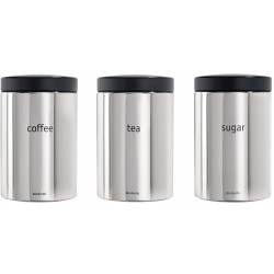 Brabantia Canister Set - Brilliant Steel