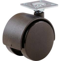 Select Twin Wheel Castors Plate Black