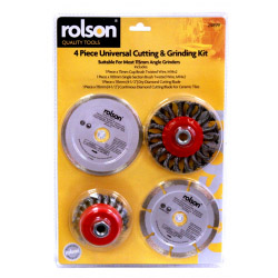 Rolson Tools 4 Piece Universal Cutting & Grinding Kit
