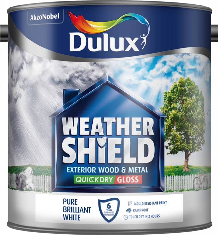 dulux weathershield exterior quick dry gloss 2 5l stax trade centres