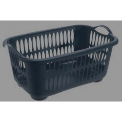 Tontarelli Rectangular Laundry Basket Black