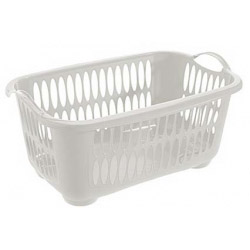 Tontarelli Rectangular Laundry Basket Cream