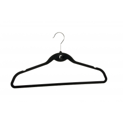 Set 5 Black Velvet Suit Hangers