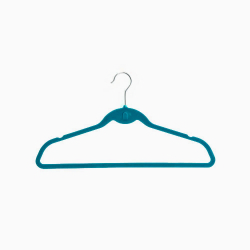 Set 5 Teal Velvet Suit Hangers