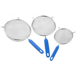 Chef Aids 3 Piece Chrome Plated Strainer