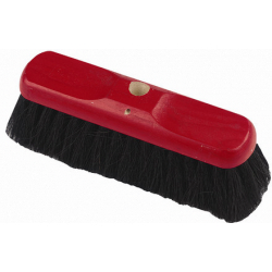 "BLACK COCO BROOM 11"" RED STOCK 050BC (S10 730)"