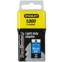 0 TRA 206T STANLEY LIGHT DUTY STAPLES 10 MM 1000