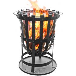 GARDEN FIRE BASKET BRAZIER 40 CM DIA C/W BBQ GRILL