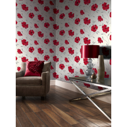 Arthouse Sophia Motif Red Wallpaper