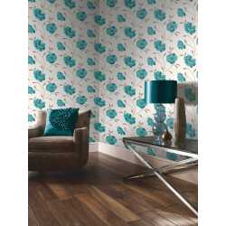 Arthouse Sophia Motif Teal Wallpaper