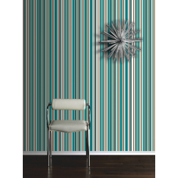 Arthouse Sophia Stripe Teal Wallpaper