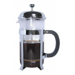 Grunwerg 12 Cup Glass Cafetiere Chrome Finish