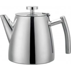 Grunwerg Double Walled Teapot Mirror Finish