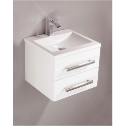 Cavalier 2 Drawer Wall Hung Unit White