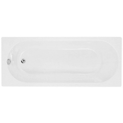 Cascade 1600x700mm 2 Tap Hole Single End Bath