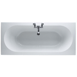 Finesse 1700 x 750mm No Tap Hole Twin End Bath
