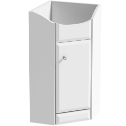 SP White Corner Vanity High Gloss