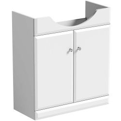 SP Delamere White Corner Vanity High Gloss
