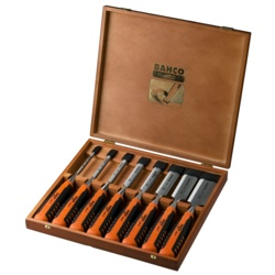 Bahco Chisel Set Wood Case