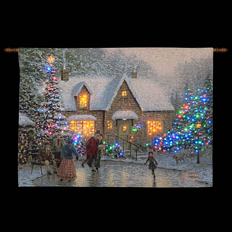 Christmas tapestry xmas wall hanging tapestries led