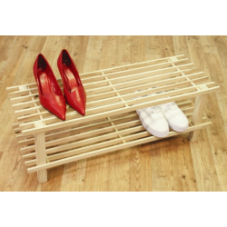 2 Tier Wooden Shoe Rack
