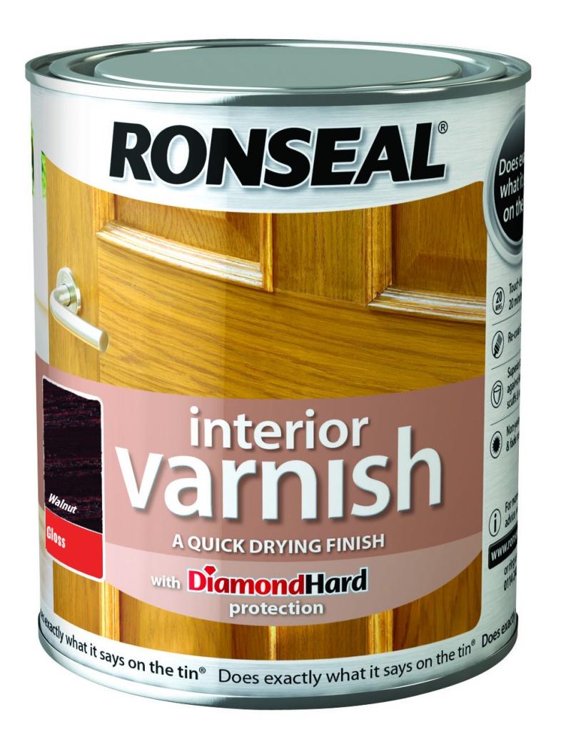 Ronseal Interior Varnish Gloss 750ml Walnut