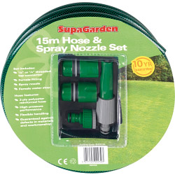 SupaGarden Hose & Spray Nozzle Set