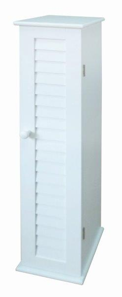 Blue Canyon Narrow Wooden Bathroom Storage Cabinet In White 4 Shelves EBay