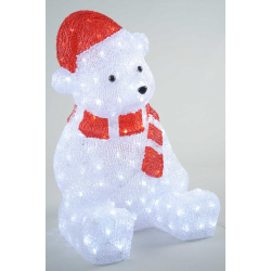 Kaemingk LED Acrylic Bear Outdoor White