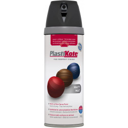 Plasti-kote Premium Spray Paint Matt Black