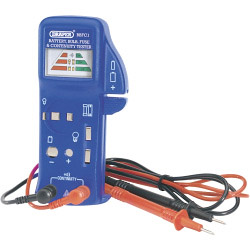 Draper Battery, Bulb, Fuse and Continuity Tester