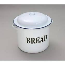 Bread Bin Round - Traditional White