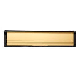 Select Post Port Black Frame Polished Gold Flap