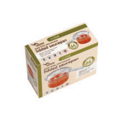 Eco Chef Stain Free 1 Pint Lidded Saucepan