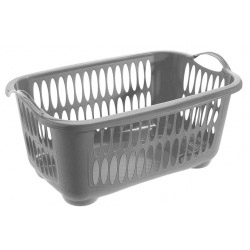 Tontarelli Rectangular Laundry Basket Platinum