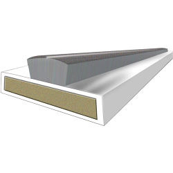 Astroflame Intumescent Seal fire/smoke 15x4x2100mm White