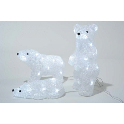 Kaemingk LED Acrylic Bear Family Outdoor White