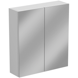 SP Sherwood White Double Door Mirror Wall Unit 600mm