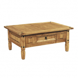 Aztec Mexican Pine Coffee Table With Drawer