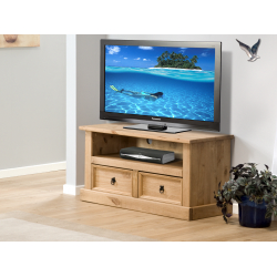 Aztec Mexican Pine Plasma TV Unit Wide