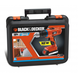 Black & Decker Lithium-Ion Hammer Drill+Kit Box