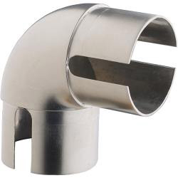 Rothley Handrail 90 Degree Elbow - Brushed Nickel Finish