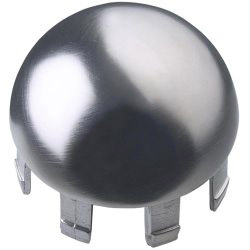 Rothley Handrail Dome Cap - Brushed Nickel Finish