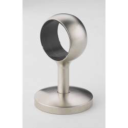 Rothley Handrail Straight Post - Brushed Nickel Finish