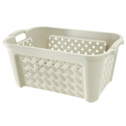Tontarelli Cream Laundry Basket