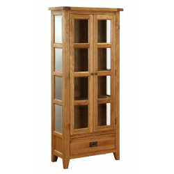 1 Drawer Glazed Display Cabinet